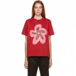 Molly Goddard Red Flower T-Shirt MGAW20-88 FLOWER TSHI