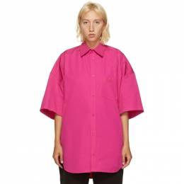 Balenciaga Pink Cocoon Short Sleeve Shirt 622249-TIM40