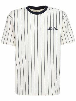 Oversize Pinstripe Cotton T-shirt New Era 72IXME022-U0ZQTlZZ0