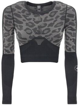 Топ Truepur Tech С Принтом Adidas by Stella McCartney 72IE0O010-QkxBQ0svQVNI0
