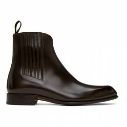Brioni Brown Side Gusset Chelsea Boots QCD80L P6757