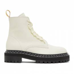 Proenza Schouler White Lace-Up Boots PS35113A 12113