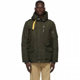 Parajumpers Green Down Right Hand Base Parka PM JCK MB03