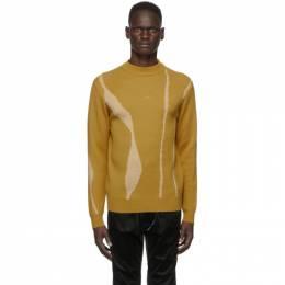 A-Cold-Wall* Yellow Jacquard Terrain Sweater ACWMK014
