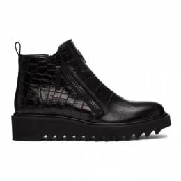Giuseppe Zanotti Design Black Tegia Zip-Up Boots IU00007-86136