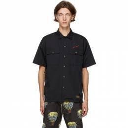 Neighborhood Black Classic Work Short Sleeve Shirt 201TSNH-SHM12