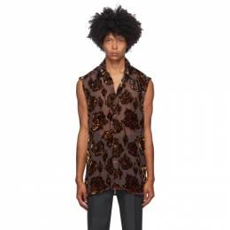 Dries Van Noten Brown Floral Silk Shirt 20753-1279-703