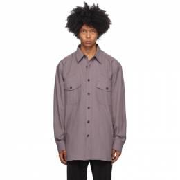 Dries Van Noten Purple Cotton Shirt 20719-1273-403