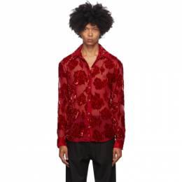 Dries Van Noten Red Silk Floral Shirt 20729-1279-352
