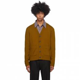Dries Van Noten Yellow Merino Cardigan 21214-1700-203