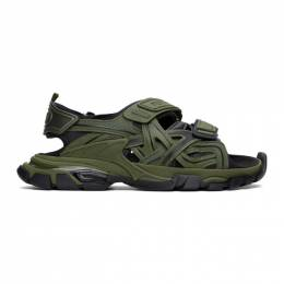 Balenciaga Green and Black Track Sandals 617542-W2FH1-2311