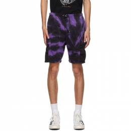 Neighborhood Purple and Black Gramicci Edition Tie-Dye Shorts 201AQGMN-PTM01S