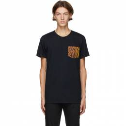 Naked And Famous Denim Black Big Tiger T-Shirt B03533120