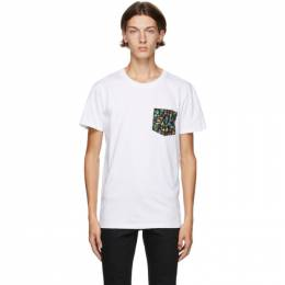Naked And Famous Denim White Pastel Pocket T-Shirt W03859120