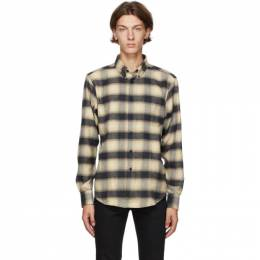 Naked And Famous Denim Black and Beige Easy Shirt 120951111