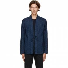 Naked And Famous Denim Blue Kimono Shirt 120859025