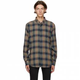 Naked And Famous Denim Navy Silk Flannel Easy Shirt 120928411