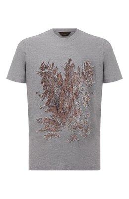 Хлопковая футболка Zegna Couture CVCJ10/8VJ11