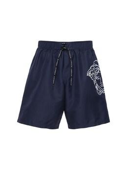 Плавательные Шорты С Принтом Versace Underwear 72I0CL015-QTEzODQ1