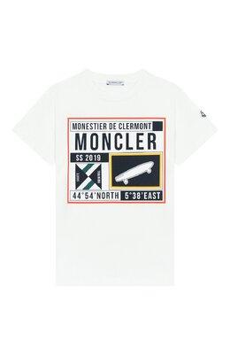 Хлопковая футболка Moncler Enfant E1-954-80251-50-83907/12-14A