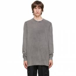 11 By Boris Bidjan Saberi Grey Acid Long Sleeve T-Shirt 199-LS1B-F1101