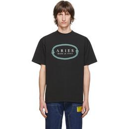 Aries Black MIIT T-Shirt FRAR60003