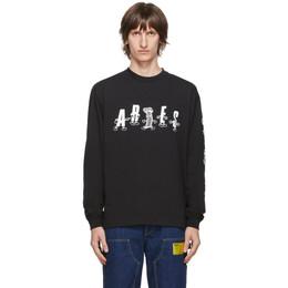Aries Black Cartoon Columns T-Shirt FRAR60013