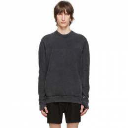 11 By Boris Bidjan Saberi Grey Middle Finger Sweatshirt 126-CR1C-F1235