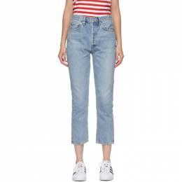Agolde Blue Riley Straight Crop Jeans A056B-811