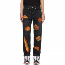 Doublet Black Hand-Painted Boulangerie Jeans 20AW18PT132