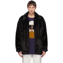 Doublet Black Peinture Faux-Fur Jacket 20AW04BL90