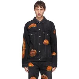 Doublet Black Denim Hand-Painted Boulangerie Jacket 20AW18BL113