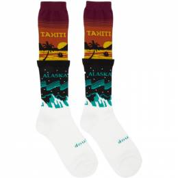 Doublet Multicolor Temperature Layered Socks 20AW48SC10
