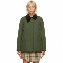 Burberry Green Quilted Cotswald Jacket 8021467