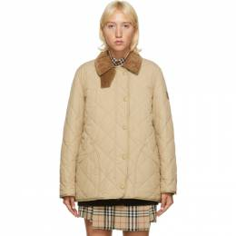Burberry Beige Quilted Cotswald Jacket 8021468