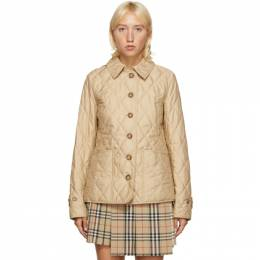 Burberry Beige Quilted Fernleigh Jacket 8023321