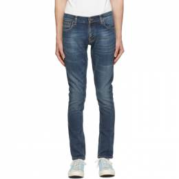 Nudie Jeans Blue Tight Terry Jeans 113329
