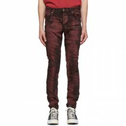 Ksubi Burgundy and Black Chitch Super Nature Jeans 5000004924