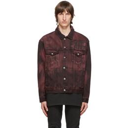 Ksubi Burgundy and Black Denim Oh G Super Nature Jacket 5000004923