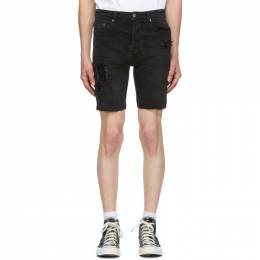 Ksubi Black Denim Chopper Shorts 5000004929
