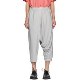 132 5. Issey Miyake Grey Jersey Skort Trousers IL08JF102