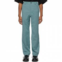 Issey Miyake Men Blue Cotton Trousers ME08FF011