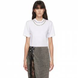 Christopher Kane White Flower Crystal T-Shirt PF20 TS529