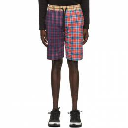 Burberry Multicolor Patchwork Check Drawcord Shorts 8034163