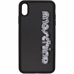 Moschino Black Logo iPhone XS Max Case 7907 8305