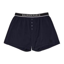 Balmain Navy Cotton Boxers BRLE750600