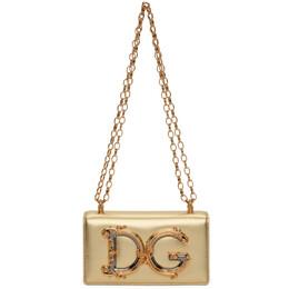 Dolce&Gabbana Gold DG Girls Phone Bag BI1416 AW121