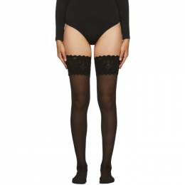Wolford Black Satin Touch 20 Stay-Up Tights 21223