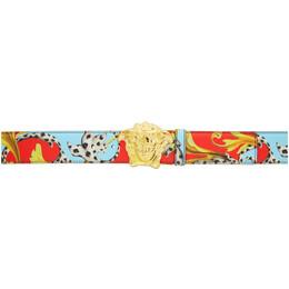 Versace Multicolor Medusa Belt DCU6705 DVST3