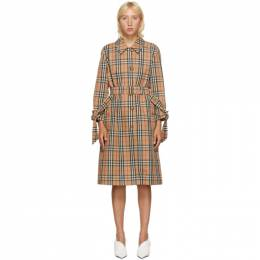 Burberry Beige Check Claygate Coat 8032221